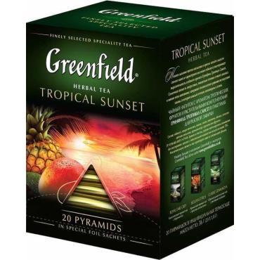 Чай GREENFIELD Tropical Sunset в пирамидках 20*1,8гр