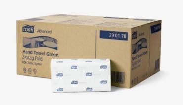 Полотенца бумажные Tork Advanced ZZ белые 200листов 2слоя