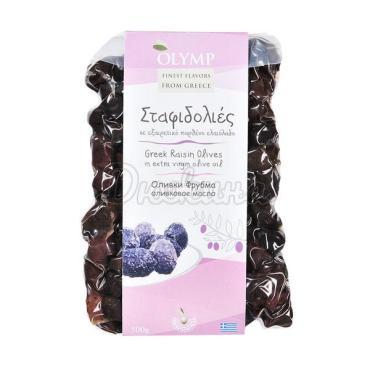 Оливки вяленные в оливковом масле Just Greece Фрумба, 500 гр., вакуумная упаковка