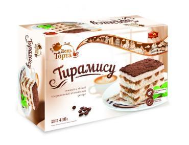 Торт День торта Тирамису, 430 гр., Картонная коробка