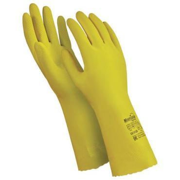 перчатки каучуковые MANIPULA Блеск, размер 10 XL, желтые