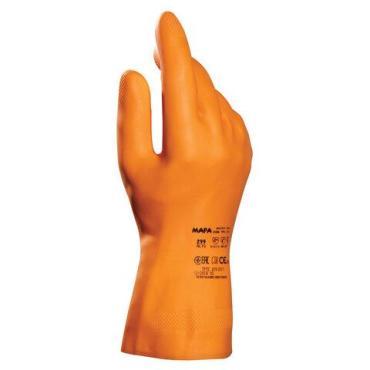 Перчатки латексные MAPA Industrial Alto 299, хлопчатобумажное напыление, размер 8 M, оранжевые