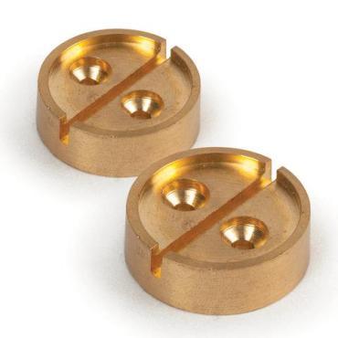 Опечатывающее устройство под нить, проволоку, плашка на 1 печать, комплект 2 шт., диаметр 27 мм., латунь