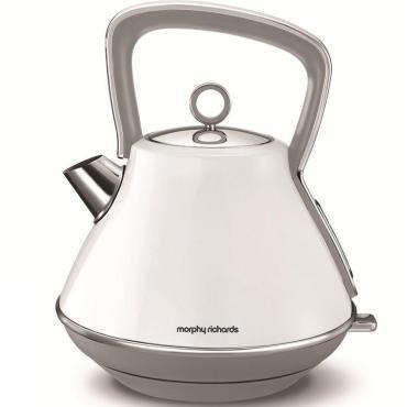 Электрический чайник из стали, Morphy Richards, Evoke Pyramid White 100109EE, 1,944 кг., картонная коробка
