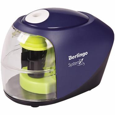 Точилка электрическая Berlingo SystemX, 1 отверстие, с контейнером, картон. уп.