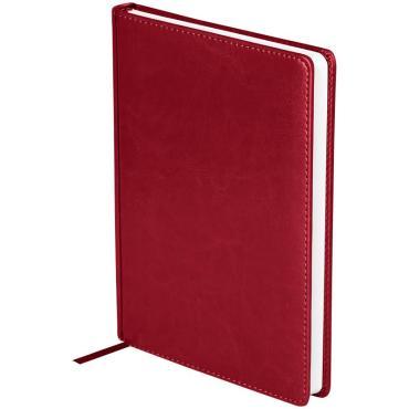 Ежедневник недатир. A5, 136л., кожзам, OfficeSpace Nebraska, бордовый