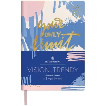 Записная книжка А6 80л. ЛАЙТ, кожзам, Greenwich Line Vision.Trendy, тон. блок, цв. срез