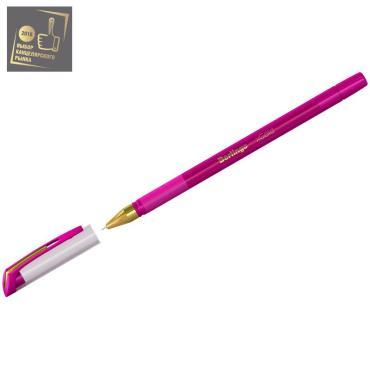 Ручка шариковая Berlingo xGold розовая, 0,7мм, игольчатый стержень, грип
