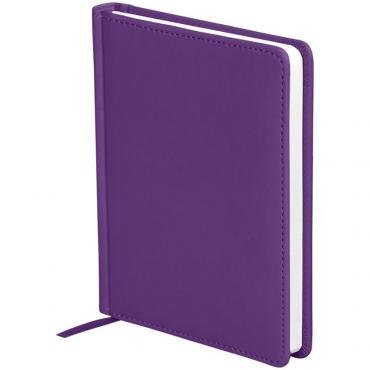 Ежедневник недатир. A6, 136л., кожзам, OfficeSpace Winner, фиолетовый