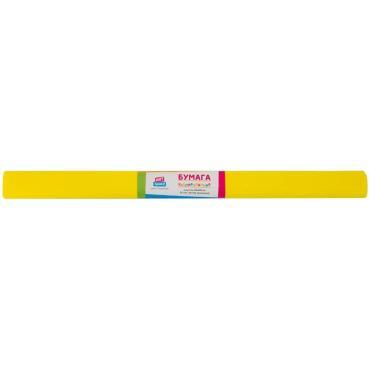 Бумага крепированная ArtSpace, 50*200см, 30г/м2, желтая (лимонная), в рулоне