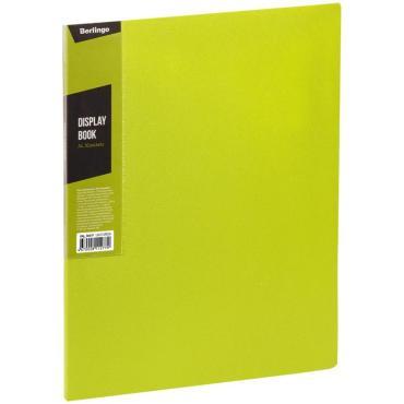 Папка с 30 вкладышами Berlingo Color Zone, 17мм, 600мкм, салатовая