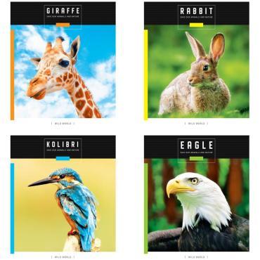 Тетрадь 48л., А5, клетка ArtSpace Животные. Save wild world