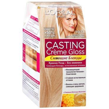 Краска для волос L'Oreal Casting №1021 светло-русый перламутр