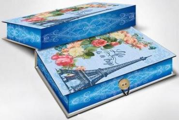 Коробка подарочная 20х14х6 см., Феникс Презент Апрельский Париж