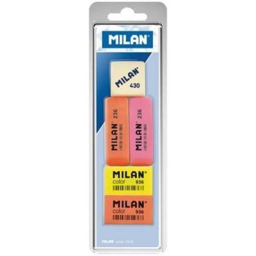 Набор ластиков 236, Color 936 и 430, 5 шт., Milan, 75 гр., пластиковая упаковка