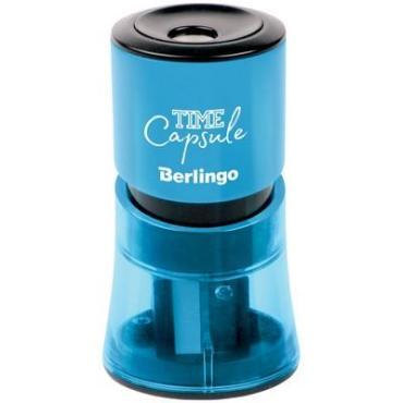 Точилка пластиковая, 2 отверстия, контейнер Berlingo TimeCapsule 8 гр.