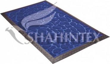 Коврик придверный влаговпитывающий 60*90 см., прямоуголный синий 9363 Shahintex МХ10