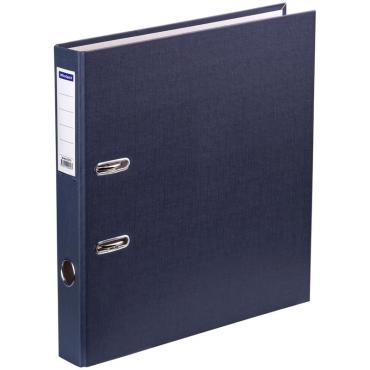 Папка-регистратор OfficeSpace, 50мм, бумвинил, с карманом на корешке, серая