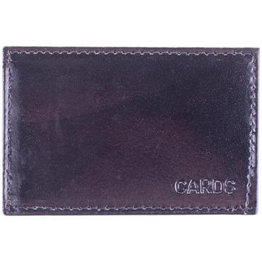 Обложка-карман для карт и пропусков OfficeSpace, 95*65мм, кожа тип 2, ассорти