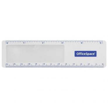 Лупа-закладка OfficeSpace, 140*38мм, с линейкой, 3-х кратное увеличение