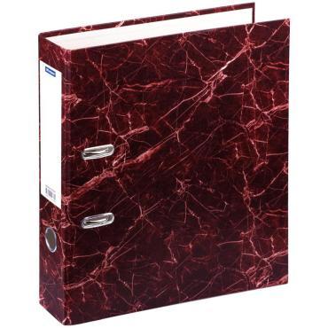 Папка-регистратор OfficeSpace 70мм, мрамор, красная