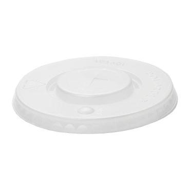 Крышка для стаканов полупрозрачная, центральное отверстие, d=90 мм, ПС, Huhtamaki, 150 шт/уп