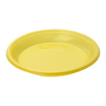 Тарелка дес., d 170 мм., жёлт., ПС., 12 шт., Мистерия, 60 гр., пластиковый пакет