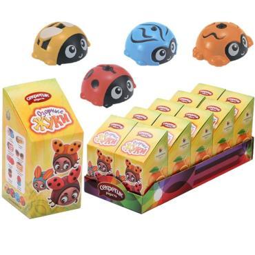 Конфета и игрушка Секретик Радости Жуки озорные, 10 гр., картонная коробка