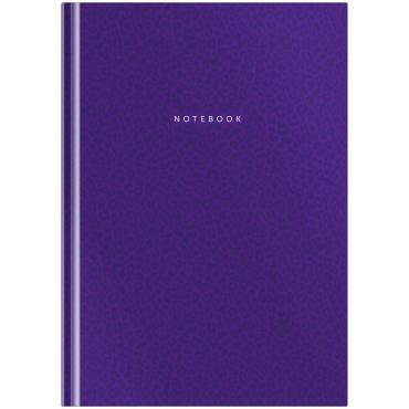 Бизнес-блокнот А5 80л. OfficeSpace Моноколор. Violet (фиолетовый), матовая ламинация, выб. УФ-лак
