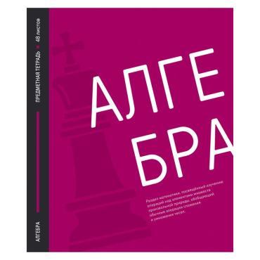 Тетрадь предметная 48л. ArtSpace Акцент знаний - Алгебра, выборочный УФ-лак