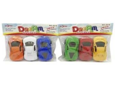Машина инерционная 3 шт., Dream, пластиковый пакет
