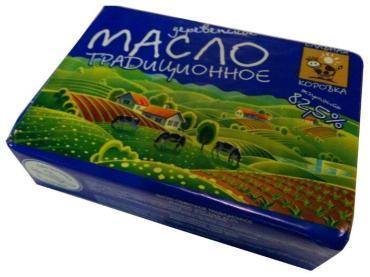 Масло сливочное 82,5% Славная коровка Традиционное, 180 гр., обертка фольга/бумага