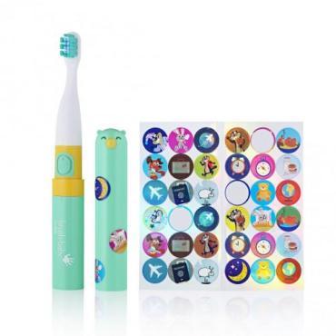 Звуковая зубная щетка, от 3 лет, бирюзовая Brush-Baby Go-Kidz Teal