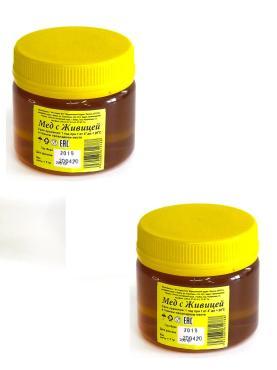 Набор меда с живицей Бийский пчелоцентр, 200 гр., пластиковая банка