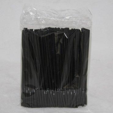 Трубочки д/коктейля черные, гофр. d=5 мм 210 мм, ПП, Фарт, 250 шт/уп, пластиковый пакет