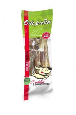 Лакомство для собак корень бычий нарезка, Отрада, 90 гр., пластиковый пакет