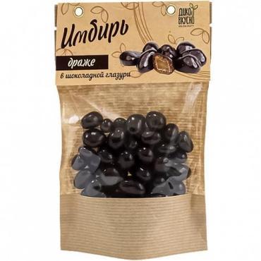 Имбирь в темной шоколадной глазури, 150 гр., бумажный пакет