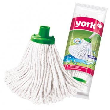 Насадка МОП для швабры с резьбовым креплением для уборки, материал хлопок, York MAXI, пластиковый пакет