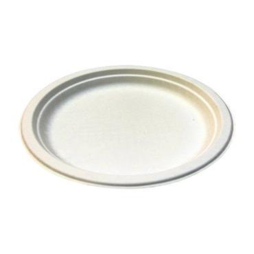 Тарелка кругл., d 260 мм., h 22 мм., бел., сахарный тростник, 50 шт., Мистерия, 300 гр., пластиковый пакет