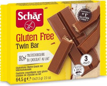 Вафли в молочном шоколаде Dr. Schar Twin bar 65 гр., флоу-пак