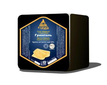 Сыр грюнталь твердый с пажитником 45% Мелодия вкуса