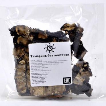 Тамаринд сушеный без косточек, 100 гр., пластиковый пакет
