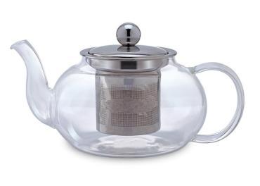 Чайник заварочный стеклянный с фильтром 800 мл., Tima Ромашка QXA132-08, картонная коробка