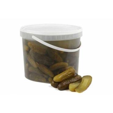 Огурцы соленые , 3 кг., пластиковое ведро