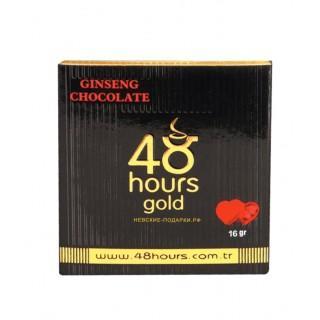Шоколад с экстрактом женьшеня 48 hours gold, 16 гр., картонная коробка
