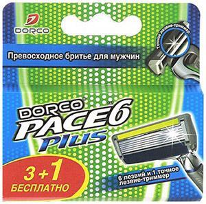 Сменные касеты стриммером для бритвенной системы, Dorco Pace 6 Plus, 50 гр., картонная коробка