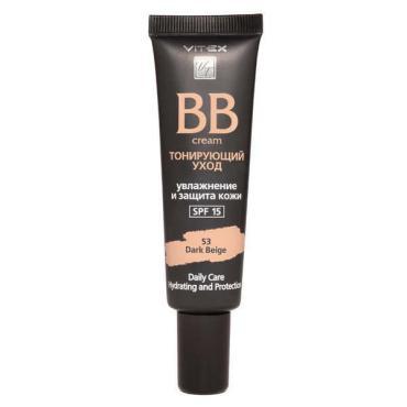 BB-крем Тонирующий уход SPF 15, тон 53 Dark beige, Vitex, 30 мл., пластиковая туба