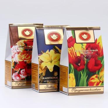 Чай черный Праздничная коллекци,  Чайный гость, 100 гр., картонная коробка