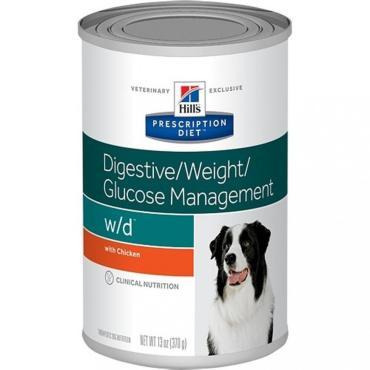Корм консервированный для собак w/d, Hill's Prescription Diet, 370 гр., жестяная банка