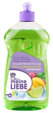 Гель для мытья посуды концентрат Meine Liebe Манго и освежающий лайм, 500 мл., пластиковая бутылка